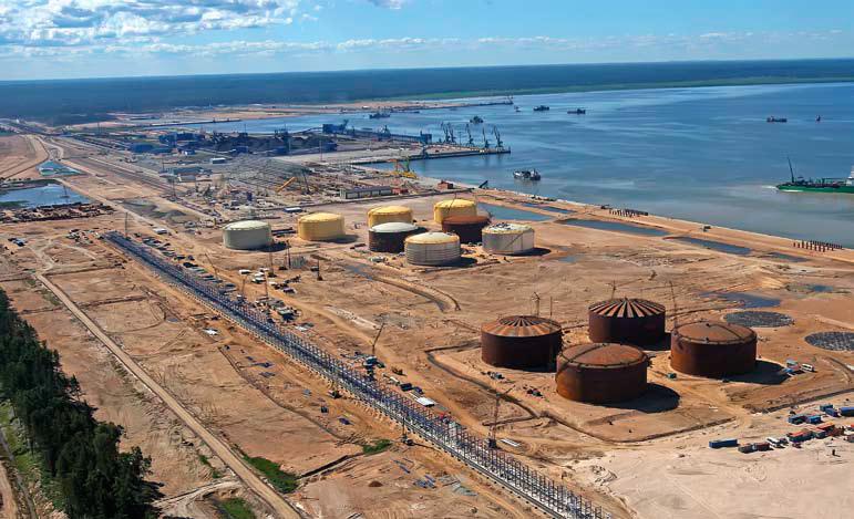 Новый портовый район в Лужской
